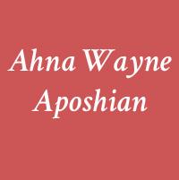 Ahna Wayne Aposhian