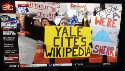 Yale Cites Wikipedia