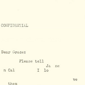 ScreenShot of Dear Grace, and interactive poem.