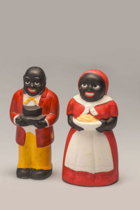 Uncle Mose and Aunt Jemima (Mammy) Salt and pepper shaker set, circa 2000s (reproduction) Photo by FSU Photographic Services Property of Erica Lehrer